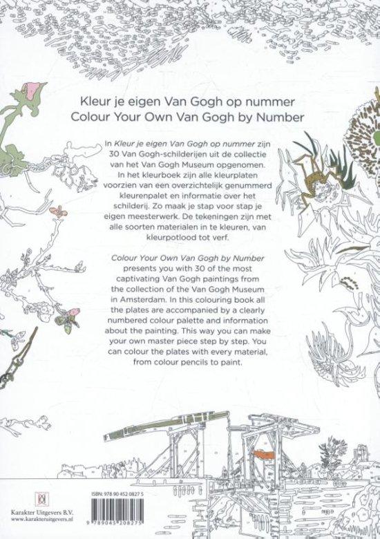 Kleurplaten Voor Volwassenen Met Nummers.Bol Com Kleur Je Eigen Van Gogh Op Nummer Colour Your Own Van