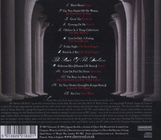 Bolcom Tribute To The Darkness Various Cd Album Muziek