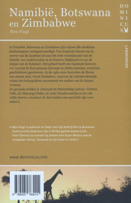Bolcom Dominicus Landengids Namibie Botswana En Zimbabwe Bas