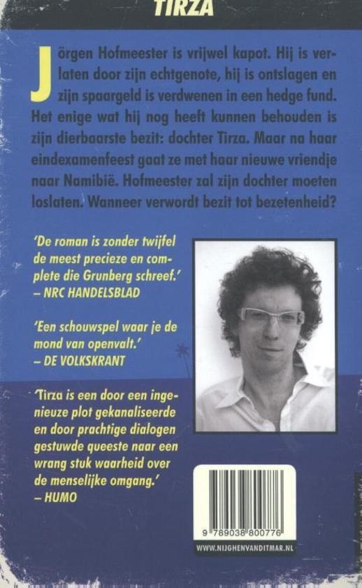 Citaten Boek Tirza : Bol tirza arnon grunberg  boeken