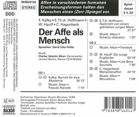 Kafka,Hauff: Affe Als Mensch