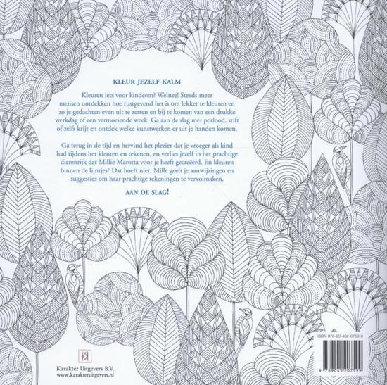 Kleurplaten Voor Volwassenen Handen.Bol Com Kleur Jezelf Kalm Dierenrijk Kleurboek Millie Marotta