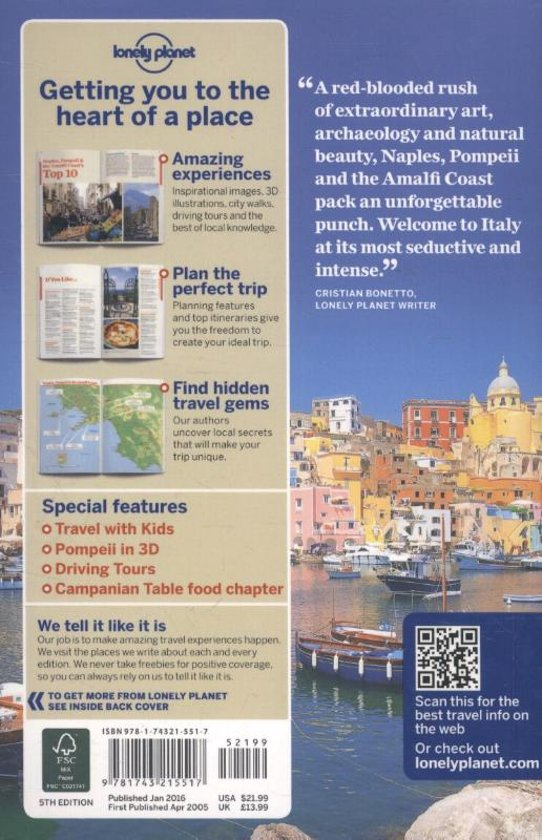 Bolcom Lonely Planet Naples Pompeii The Amalfi Coast Lonely