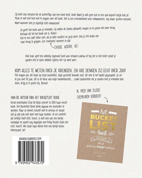 Het beste vriendenboek for Het boek over jou