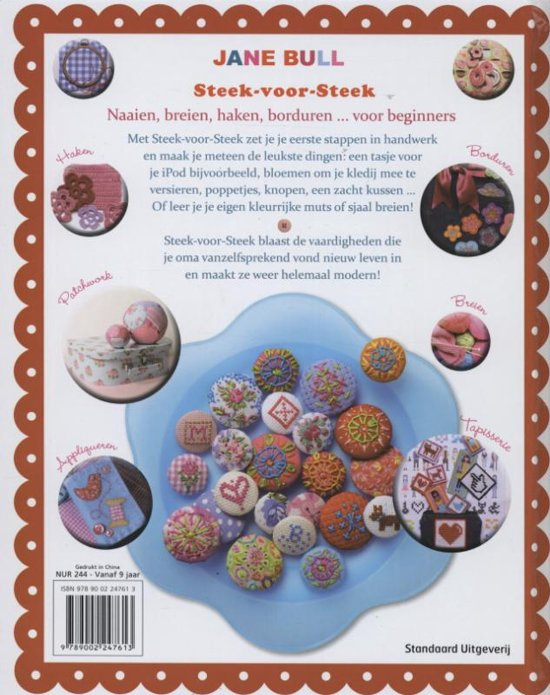 Bolcom Steek Voor Steek Jane Bull 9789002247613 Boeken