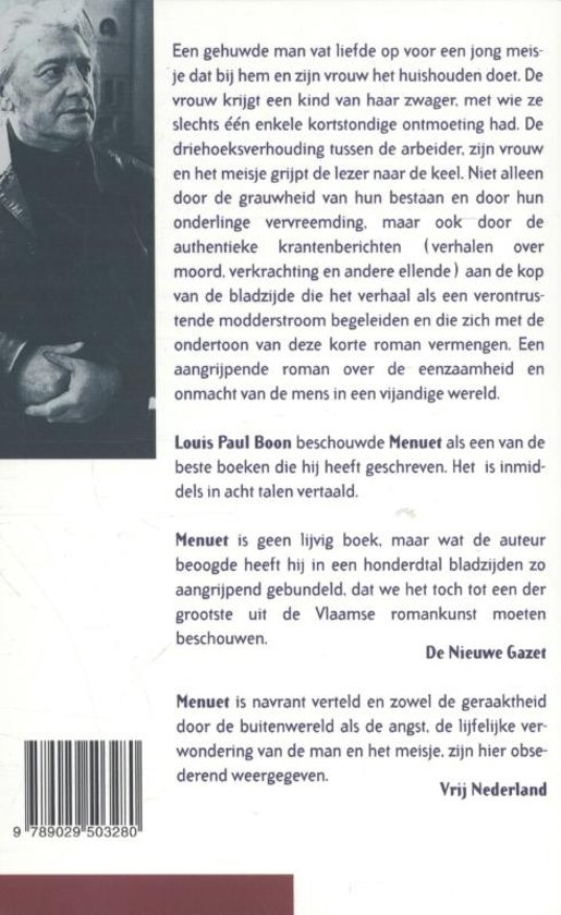 Bolcom Menuet Louis Paul Boon 9789029503280 Boeken
