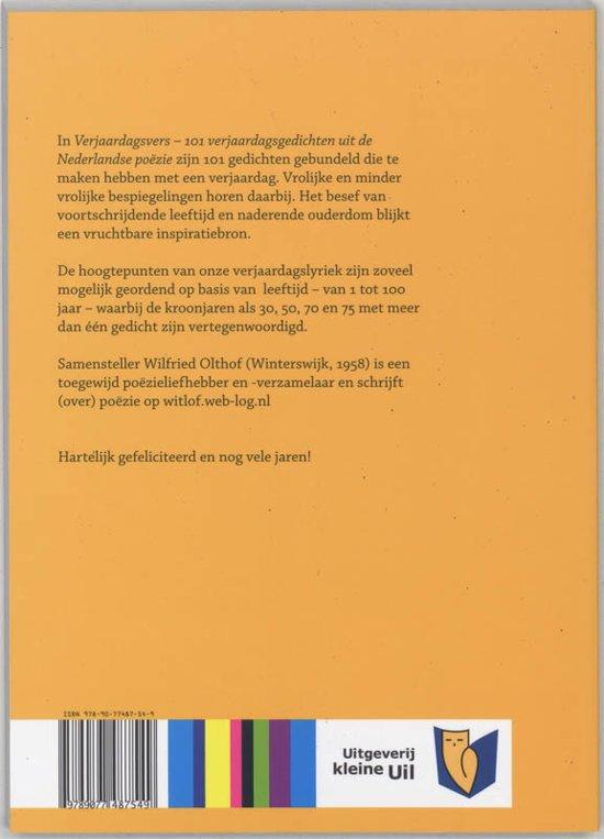Bol Com Verjaardagsvers Wilfried Olthof 9789077487549 Boeken