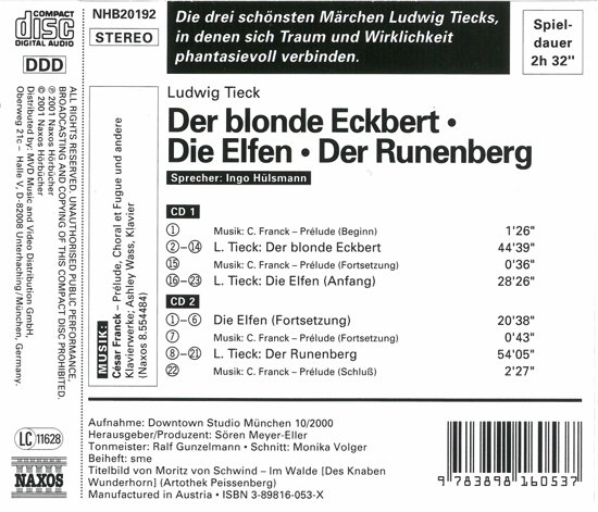Tieck:Eckbert.Elfen.Rununberg
