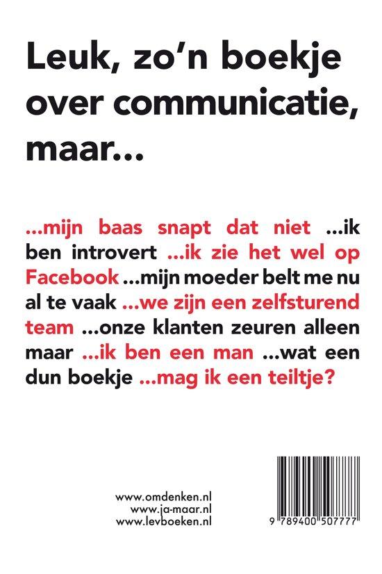 Ja-maar - Omdenken in communicatie