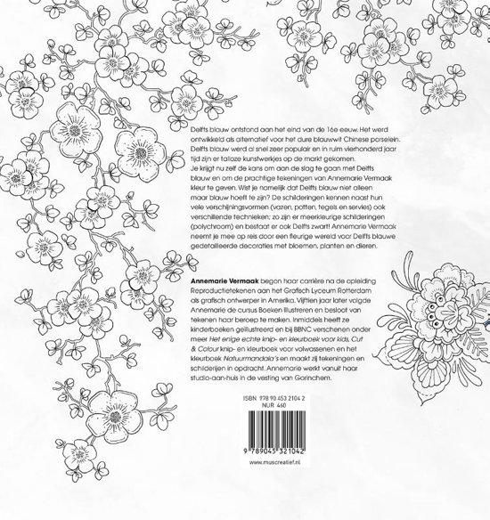 Kleurplaten Voor Volwassenen Tegels.Bol Com Delfts Blauw Flora Fauna Kleurboek Diverse Auteurs