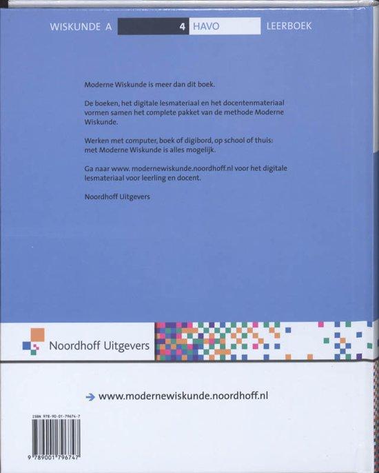 wiskunde boek havo 4