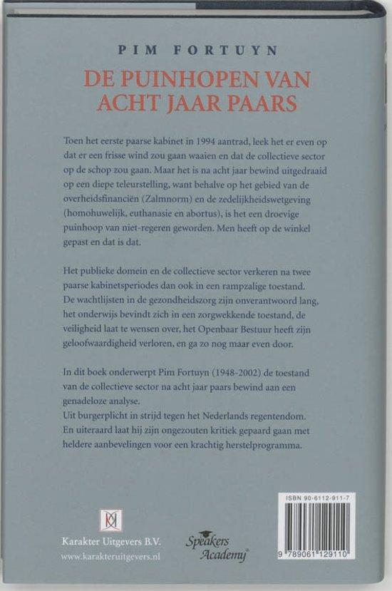 Bol de puinhopen van acht jaar paars pim fortuyn boek omdraaien fandeluxe Images