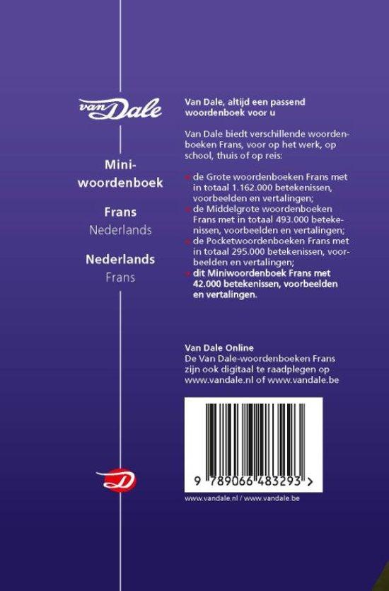 vertalen nederlands frans van dale