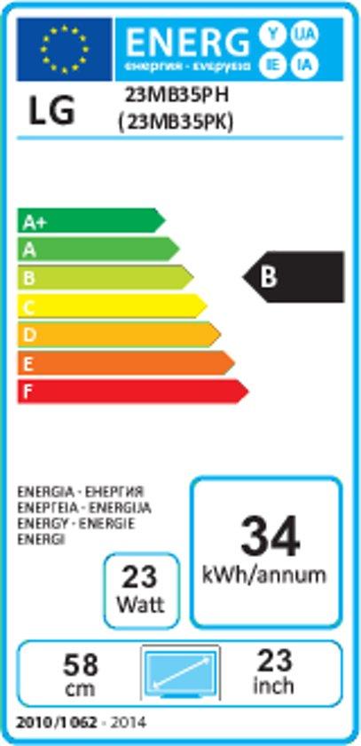"LG 23MB35PH-B 23"" Anthracite Full HD LED display"