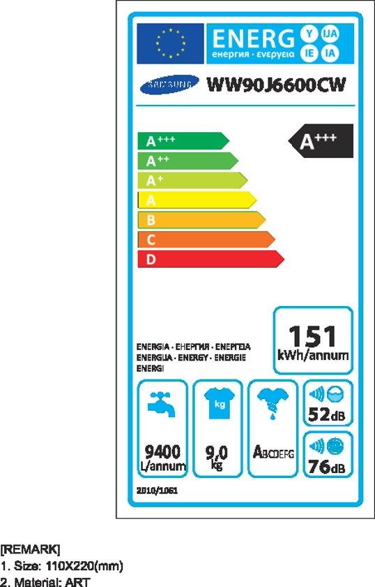 Samsung WW90J6600CW Eco Bubble