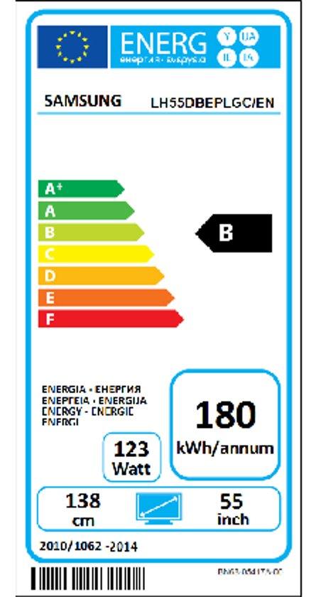 DB55E/55''LED WiFi SOC 8GB HDMI Black
