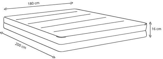PerfectRookie© matras - 15cm Dik - Betaalbaar Kwaliteitsmatras - 180x200cm - SkyCell Schuim SG25