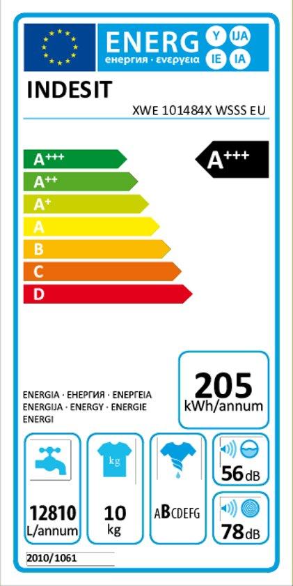 INDESIT XWE101484X WSSS EU -  Wasmachine