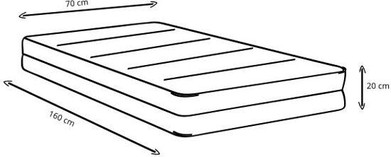 Bedworld 70x160 Peuter Kleuter pocket matras koudschuim HR45 Medium ligcomfort
