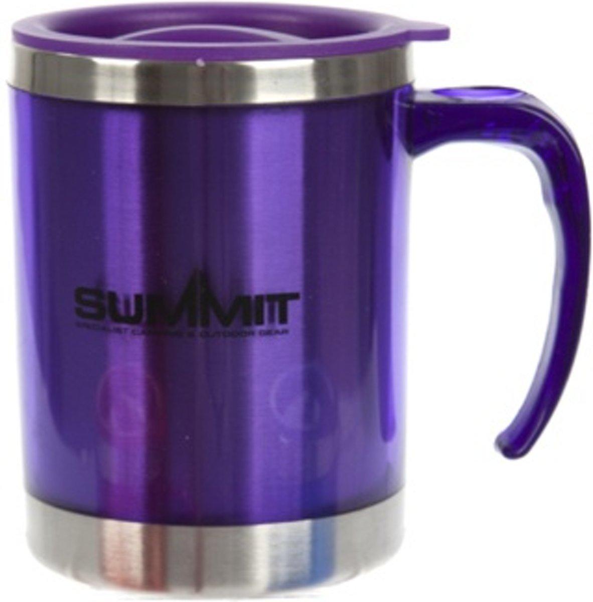 Summit Drinkbeker Met Deksel Aluminium Paars 450 Ml kopen