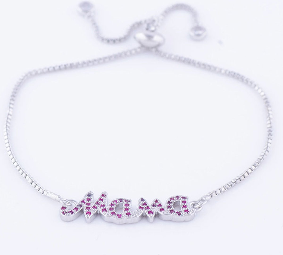 Mama armband - roze zirconia - moederdag cadeau kopen