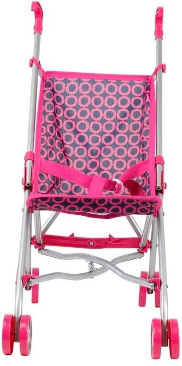 Mini Mommy Poppenbuggy buggy pop Roze 51 X 26,5 X 55 Cm
