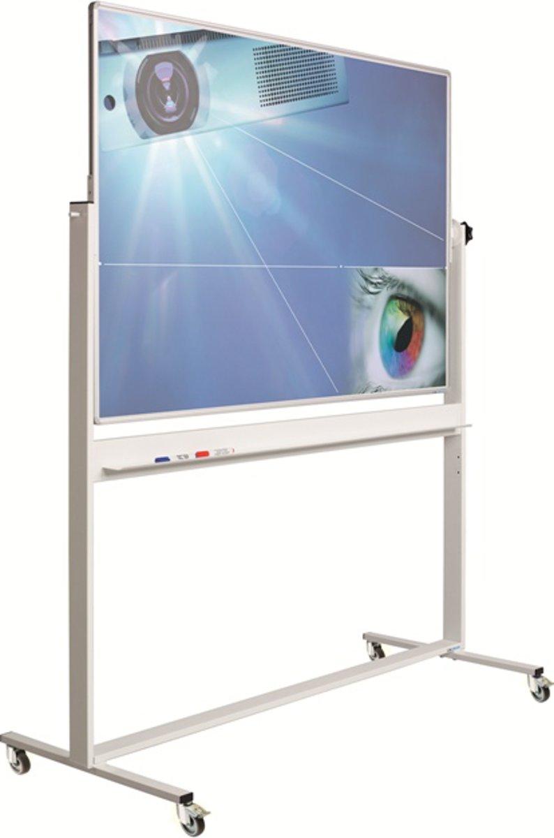 Kantelbord Combi RC10mm profiel, email wit/projectiestaal kopen