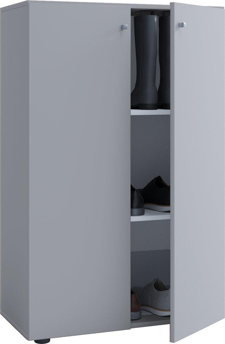 Kledingkast opbergkast ( kinderkamer ) Vandol Lonal Mini 110 cm hoog 3 opbergvakken grijs