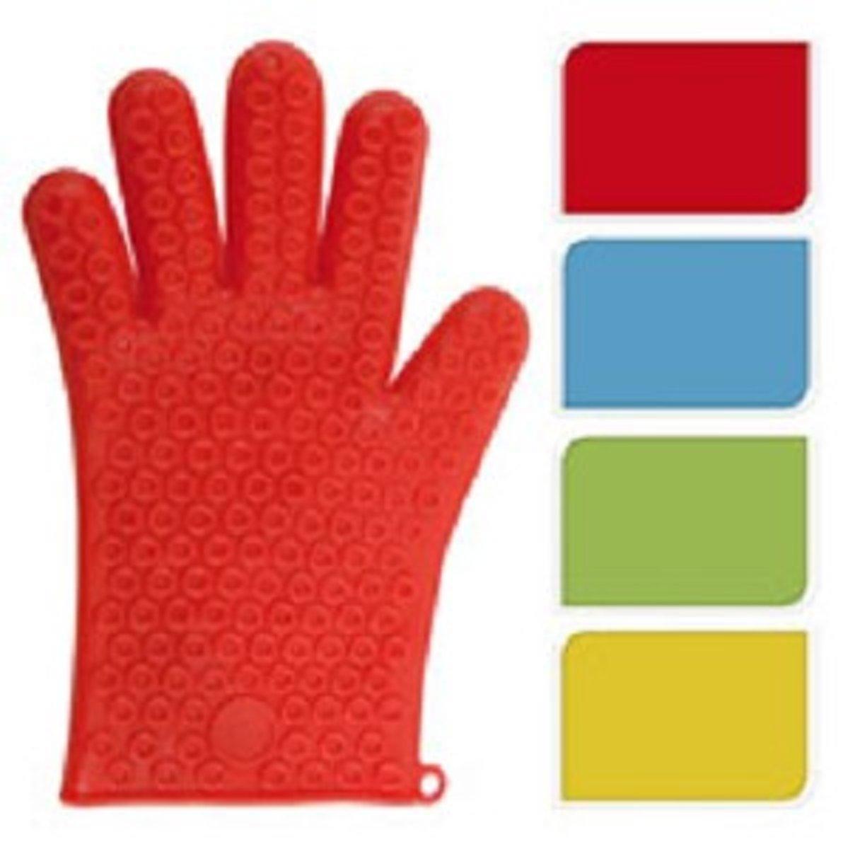 Oven Handschoen Siliconen Blauw kopen