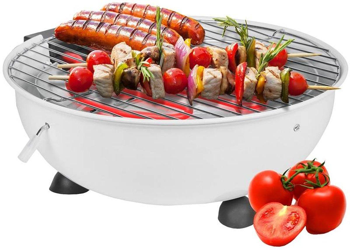 Cuisinier Deluxe Elektrische Tafelbarbecue - Wit kopen