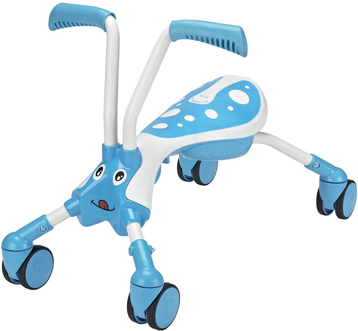 Mookie Scramblebug loopfiets wit/blauw