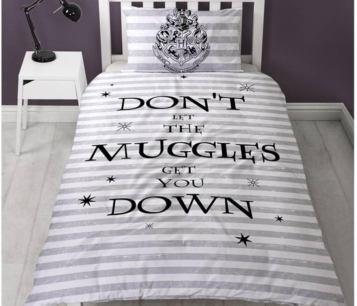 Harry Potter Spell - Dekbedovertrek - Eenpersoons - 135 x 200 cm -  Wit kopen