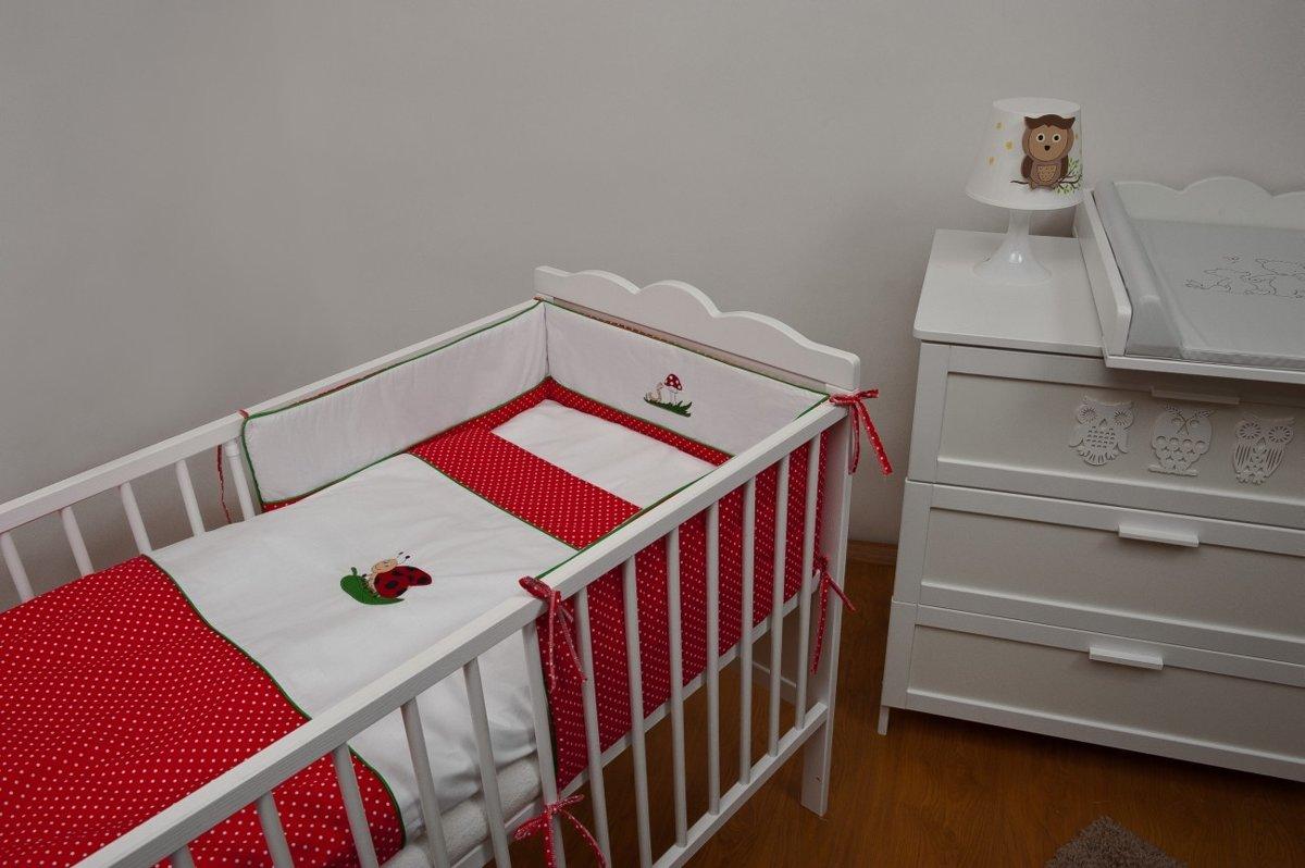 Beddengoed set - 4 delig - 120x60 met borduurwerk - dieren rood kopen