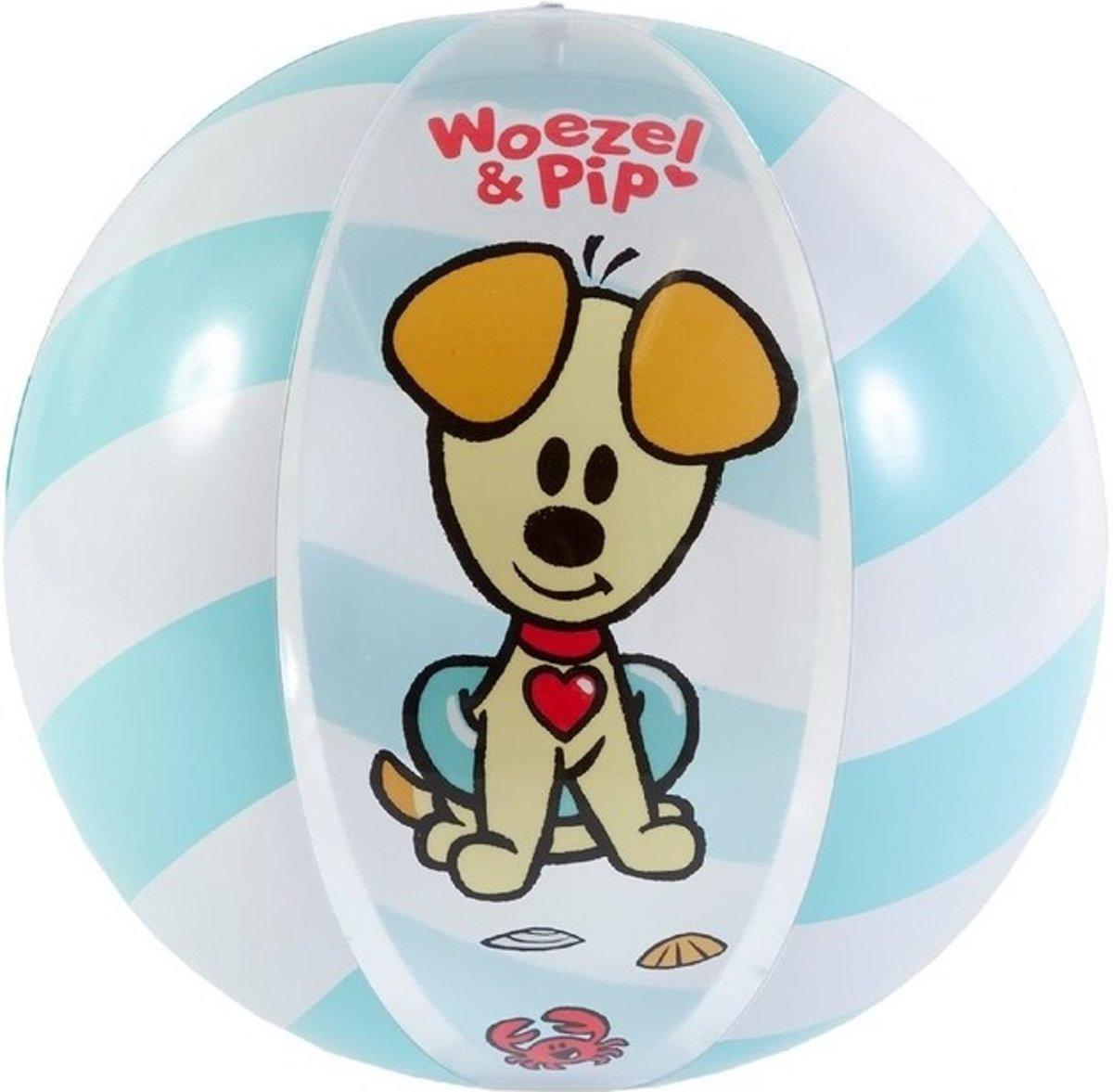 Woezel en Pip opblaasbare strandbal 50 cm - Strand speelgoed strandballen voor kinderen