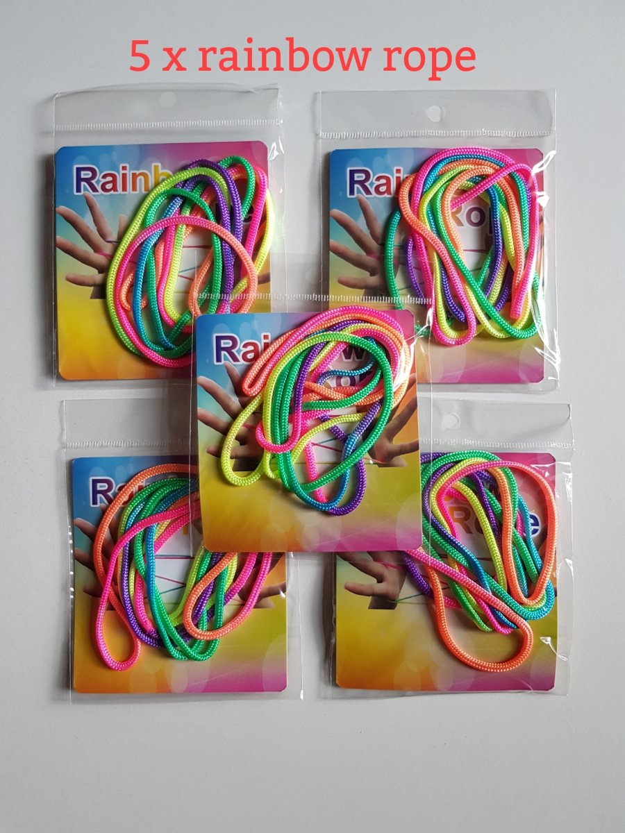 5x Rainbow Rope - Regenboog Touw - VingerTouw ZTRINGZ