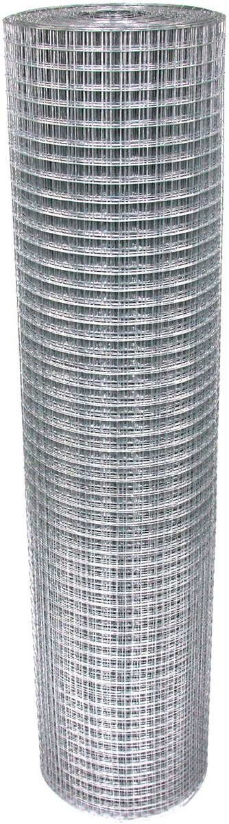 Volièregaas 19x19mm 1.0mm 100cm hoog 25m Rol Verzinkt
