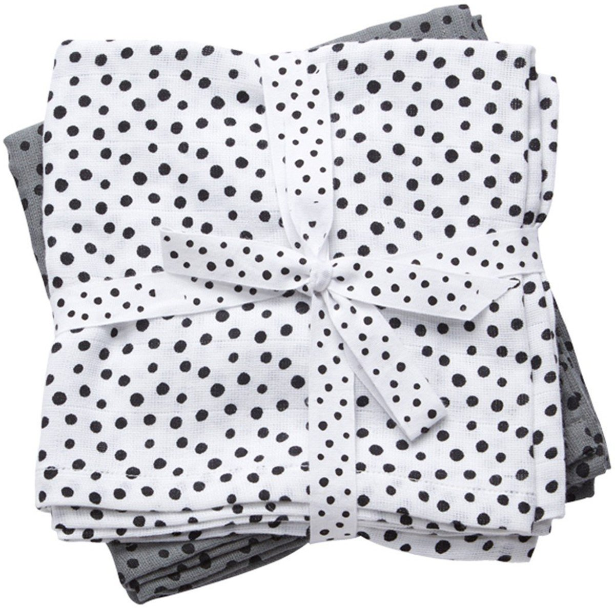 Hydrofiele Doeken XL Happy Dots Grijs (2st) Done By Deer