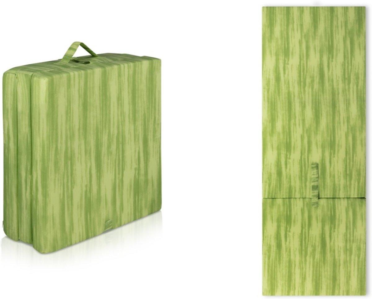 inklapbaar Vouwmatras - opvouwmatras - 70x190x9 - Groen