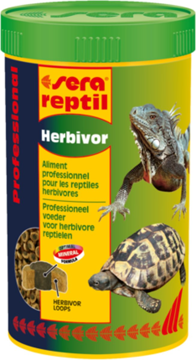 Sera reptil Professional Herbivor - 80g - Reptielenvoer schildpadvoer