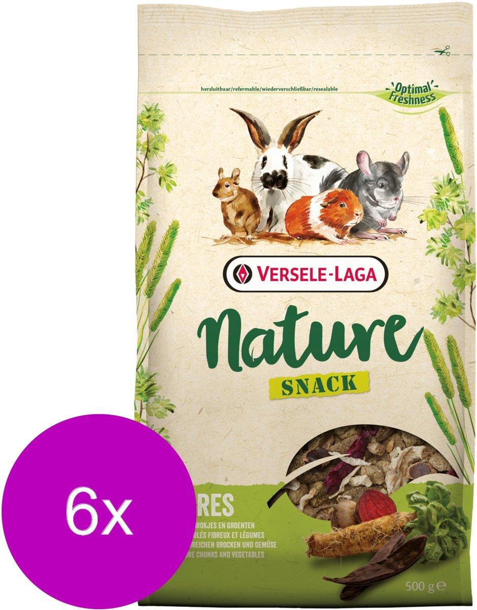 Versele-Laga Nature Snack Fibres - Knaagdiersnack - 6 x 500 g