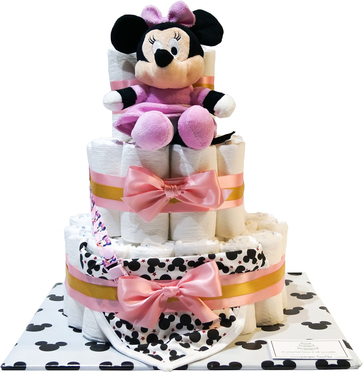 Luiertaart - Pampertaart Meisje Minnie Mouse - 52 Pampers - Roze