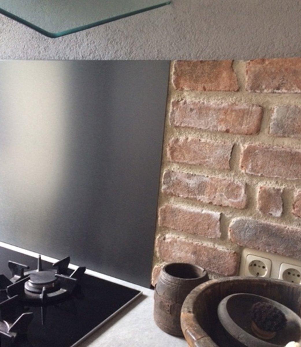 Rvs Plaat Keuken : Bol rvs achterwand geborsteld zwart cm