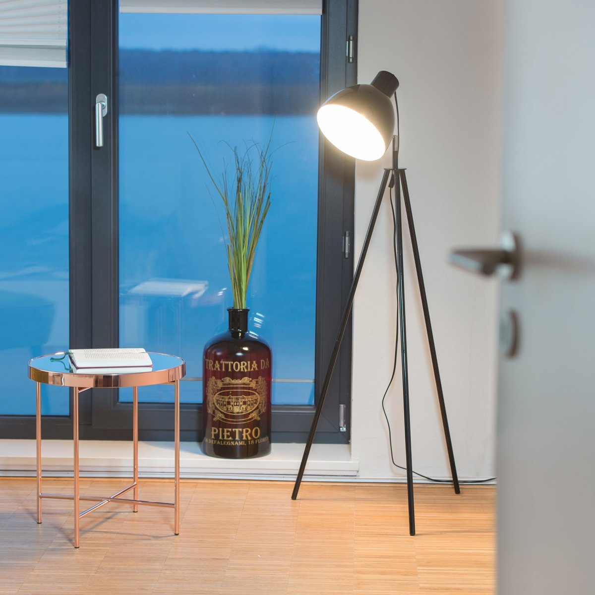 bol.com | relaxdays Staande lamp tripod - vloerlamp - woonkamer ...
