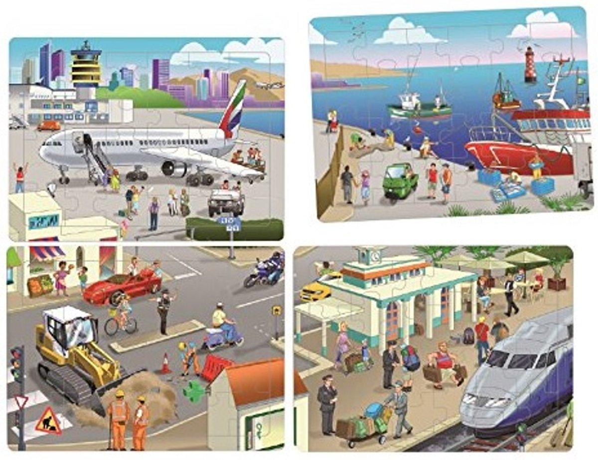 Akros - Coöperatieve puzzel set - Stad - Voor kinderen vanaf 3 jaar
