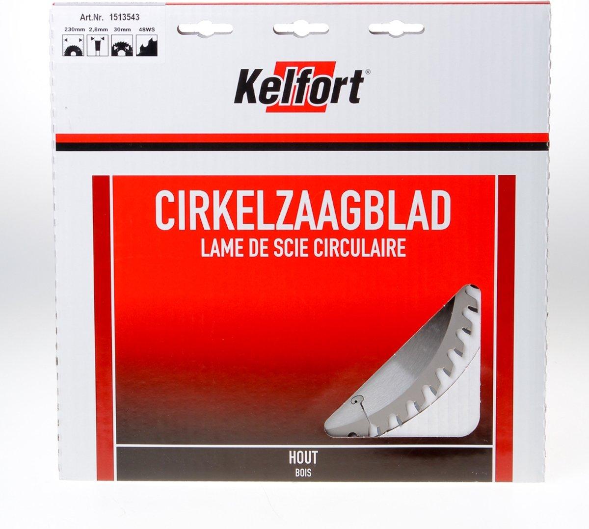 Kelfort Cirkelzaagblad hardmetaal 48 tanden WS-W diameter 230 x 3 x 30mm