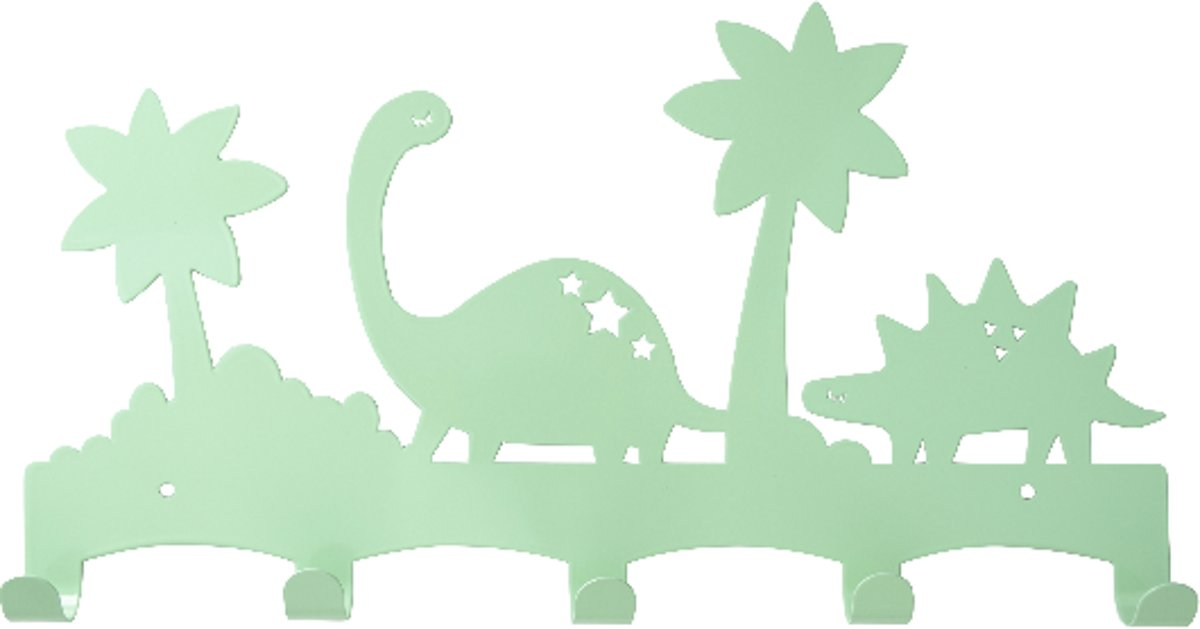 Kapstok dinosaurus mint | kinderkapstok metaal dino's