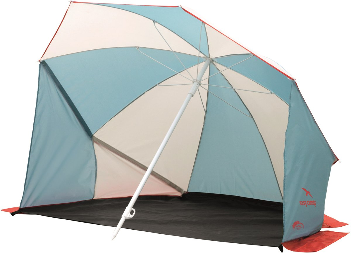 Easy Camp Beach Shelter Coast Windscherm  - Blue/white/red kopen