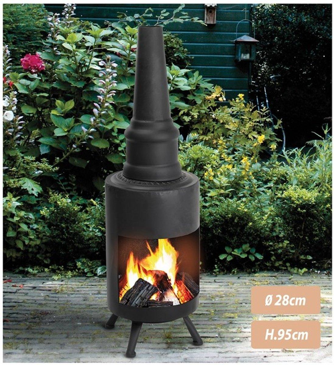 vuurkorf - terrashaard - tuinhaard - terraskachel - tuinverwarmer - buitenkachel 95 cm