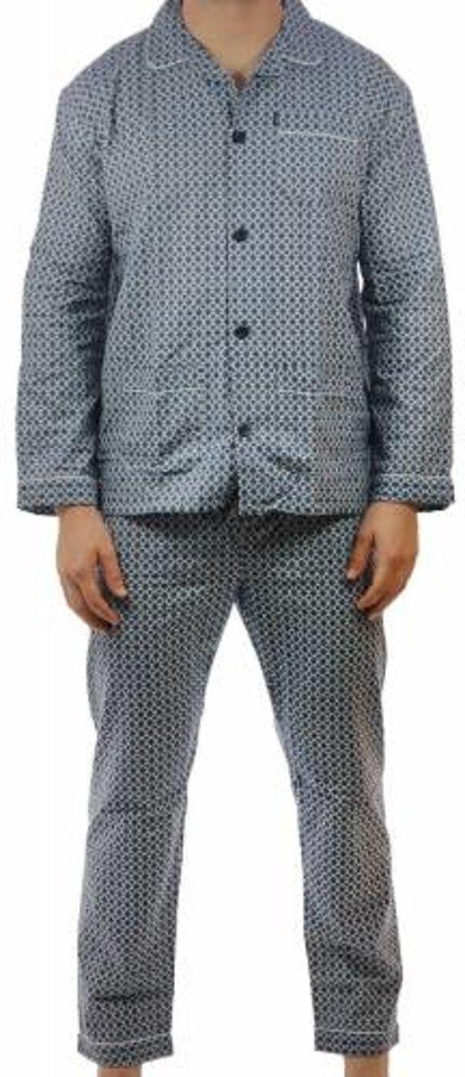 Gentlemen flanellen heren pyjama 94165 62 Blauw