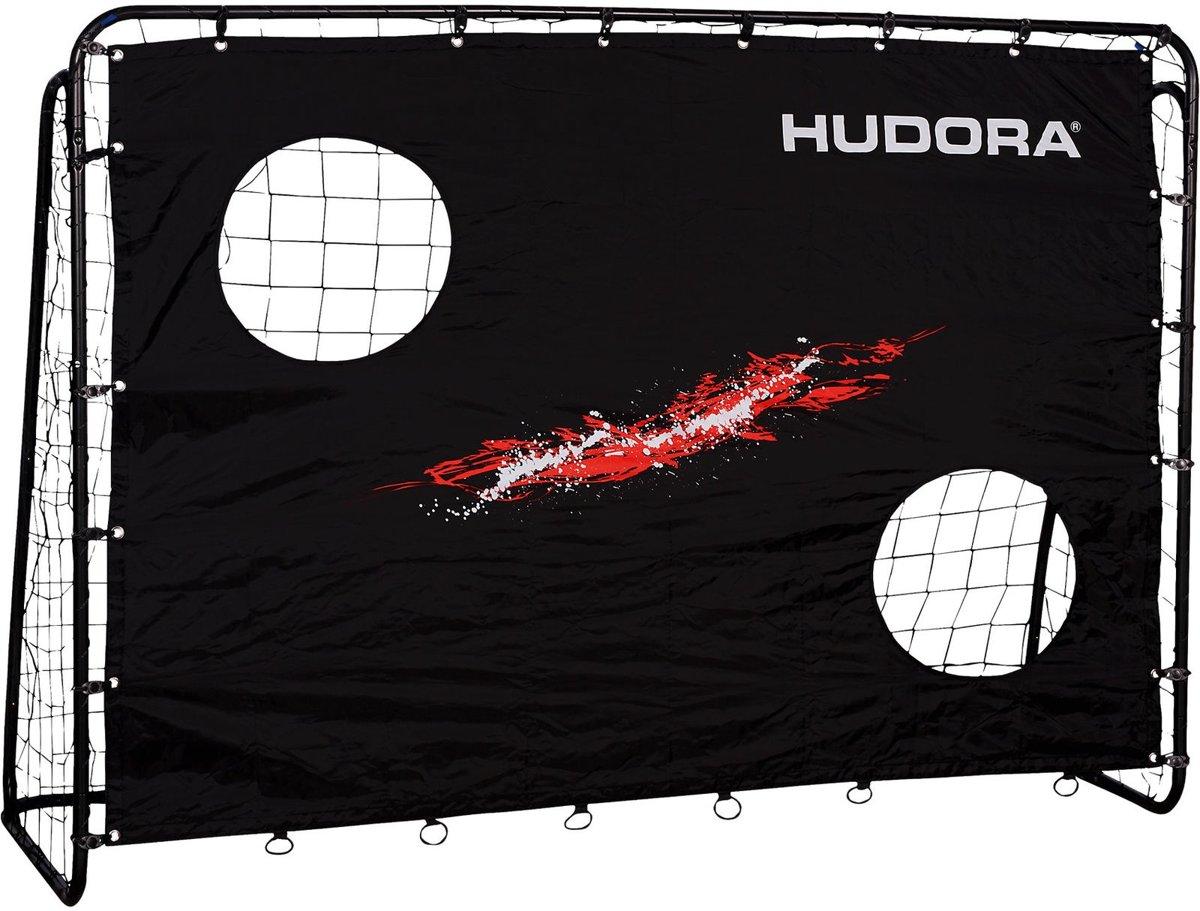 Hudora Black voetbaldoel met trainer wand 213x152 kopen
